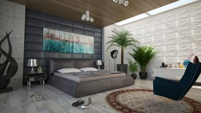 Chambre à coucher bien décorer